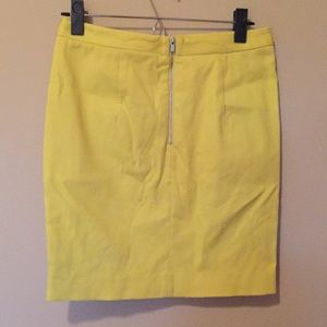 Banana Republic Skirts - Yellow scalloped Banana Republic pencil skirt